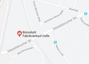 Google Anfahrt zu Buerostuhl Fabrikverkauf Celle